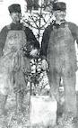 Oscar Lindberg (left) & Barney Larker (right), Scotch Cap; date unknown