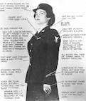 SPAR uniform details: service dress blue, 1942