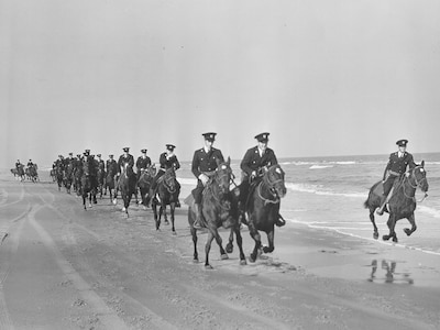 Mounted Beach Patrol, WWII