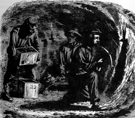 Former lead miners from Missouri and Illinois excavated a gallery beneath the Confederate fortifications.