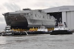 MOBILE, Ala. - The U.S. Navy's USNS City of Bismarck (EPF 9), the ninth EPF vessel, launched in Mobile, Alabama, June 7.