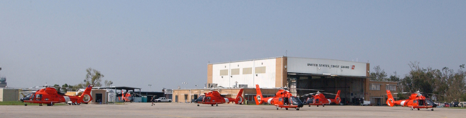 air station new orleans louisiana original photo caption coast guard rescue helicopters line