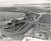 Air Station San Francisco, California No official caption/date/photo number; photographer unknown. An aerial view of Air Station San Francisco circa 1962.