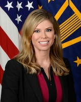 Amber Smith, Deputy Assistant Secretary of Defense, (Public Affairs), Department of Defense, poses for her official portrait in the Army portrait studio at the Pentagon in Arlington, Virginia, June 5, 2017.  (U.S. Army photo by Monica King/Released)