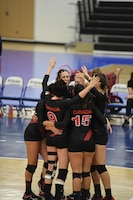 Canada defeats Netherlands in Match 5 of the 18th Conseil International du Sport Militaire (CISM) World Women's Military Volleyball Championship on 6 June 2017 at Naval Station Mayport, Florida. (Photo by Petty Officer 2nd Class Timothy Schumaker, NPASE East).
