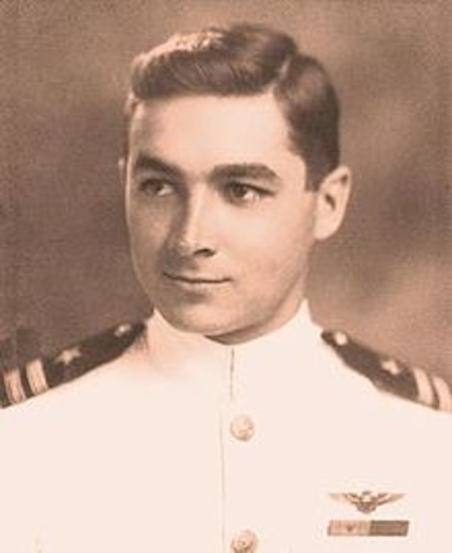 William N. Leonard, USNA 1938, older brother of 371st Fighter Group P-47 Thunderbolt pilot John W. Leonard (USMA 1942), was designated as Naval Aviator #6953 in 1940.  He is pictured here after the Battle of Midway, circa 1943 as a US Navy Lieutenant.  Source: (Wikipedia)