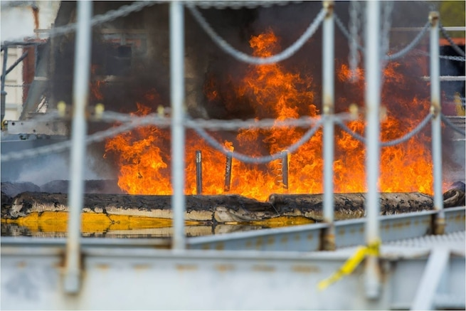 Joint Maritime Test Facility In-Situ Burning (ISB) tests