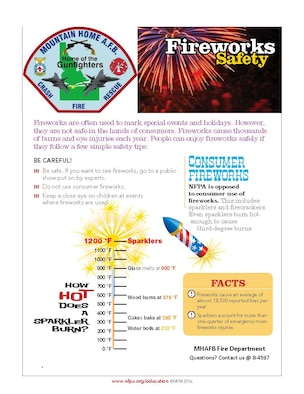 Fireworks Safety for Mountain Home Air Force Base