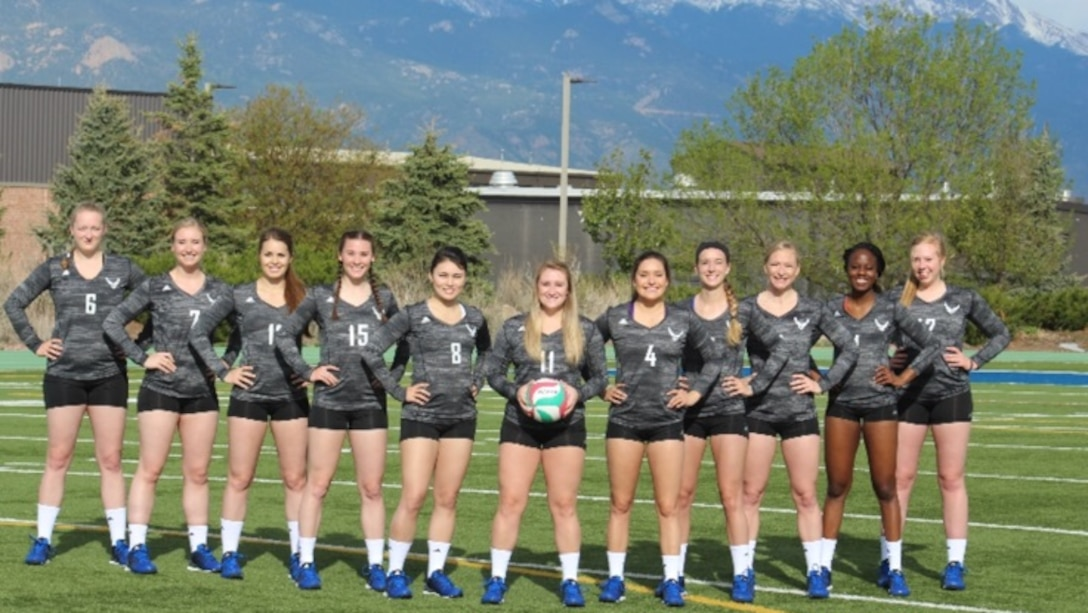 The All-Air Force volleyball team competed in the Armed Forces Volleyball Championship May 18-20 at Naval Station Mayport, Florida. With one loss and winning five straight matches, the Air Force won the gold medal. (U.S. Air Force courtesy photo)