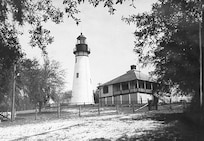 Amelia Island Lighthouse, Florida; no photo number/caption/date; photographer unknown.