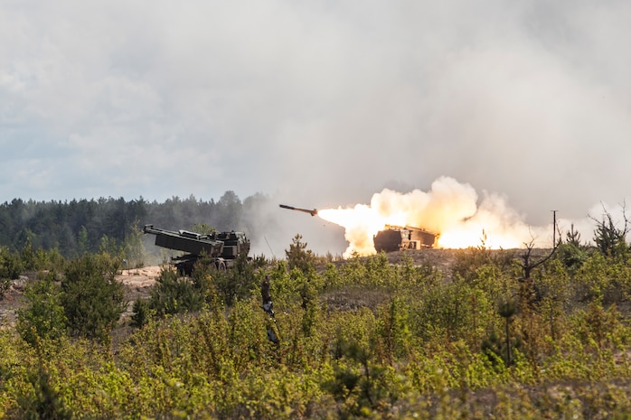 U.S. Army soldiers fire a high mobility artillery rocket system during a live fire exercise at Adazi Training Grounds, Latvia, June 8, 2017. Exercise Saber Strike 17 is an annual combined-joint exercise conducted at various locations throughout the Baltic region and Poland. The combined training prepares NATO Allies and partners to effectively respond to regional crises, to meet their own security needs by strengthening their borders and countering threats.