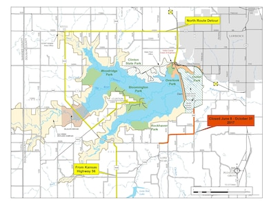 Portions of Douglas County 458 will be closed between 8 June and 1 October 2017 for road work. 