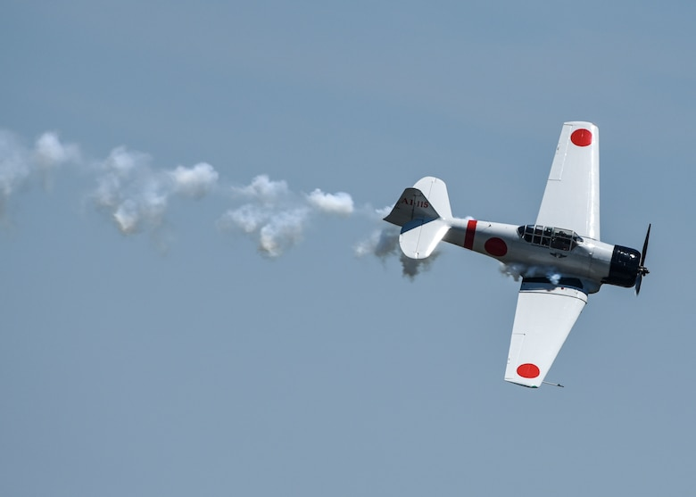 """""""Tora, Tora, Tora,"""" a Commemorative Air Force's recreation of the Japanese attack on Pearl Harbor that signaled the beginning of the American involvement in World War II, performs the re-creation of the Dec. 7, 1941, attack on Pearl Harbor during the 100th Centennial Celebration Air Show, June 10, 2017, at Scott Air Force Base, Ill. For over 35 years, Tora has performed 12 to 16 shows each year. Every performance is presented with the same presentation, sense of emotion, and commitment to safety as those first performances in 1972."""