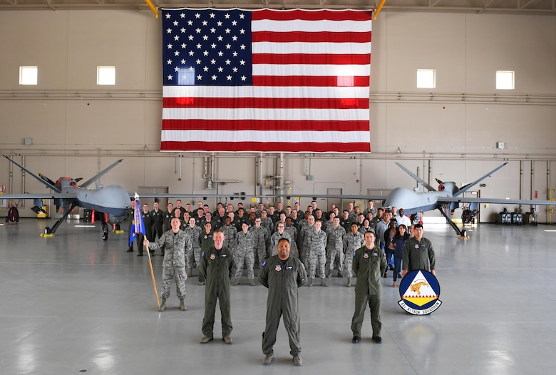 The 42nd Attack Squadron reach it's centennial anniversary June 13, 2017. It's lineage can be traced back to World War I where it was a training unit before being re-designated in the mid-1930's as a bombardment squadron. During World War II, the 42nd flew bomber aircraft such as the B-18 Bolo, B-17 Flying Fortress and B-24 Liberator in six aerial campaigns during World War II over the Pacific theater including the Battle of Midway. In 1963, the unit inactivated and briefly returned in 1989 as an air refueling squadron, but soon inactivated again in 1990. In 2006, the 42nd became the first MQ-9 Reaper squadron and continues today providing dominant persistent attack and reconnaissance to the combatant commanders 24/7/365. (U.S. Air Force photo/Senior Airman Christian Clausen)