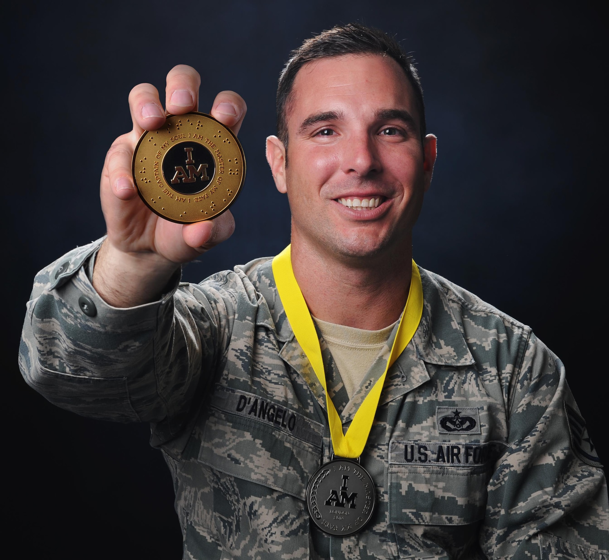 Senior Airman Christopher D'Angelo, a heavy equipment operator, has worked to recover from post-traumatic stress disorder with the help of his family.