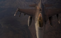 An F-16 Fighting Falcon fighter jet, assigned to the 16th Weapons Squadron at Nellis Air Force Base, Nev., participates in a Weapons School Integration mission June 8, 2017. In an air combat role, the F-16's maneuverability and combat radius exceed that of all potential threat fighter aircraft. (U.S. Air Force photo by Senior Airman Kevin Tanenbaum/Released)
