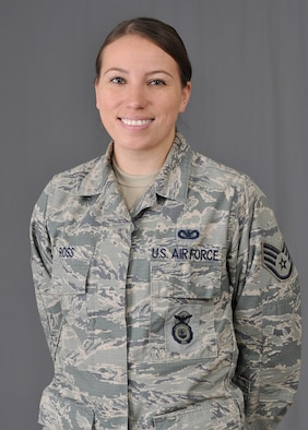 U.S. Air National Guard Staff Sgt. Trisha Ross, a member of the Ho-Chunk/Winnebago Tribe of Nebraska, is assigned to the Security Forces Squadron with the Iowa National Guard's 185th Air Refueling Wing in Sioux City, Iowa. Ross received an award from the Society for American Indian Government Employees for going above and beyond in her duties while promoting Native American culture. (U.S. Air National Guard photo by Staff Sgt. Daniel Ter Haar)
