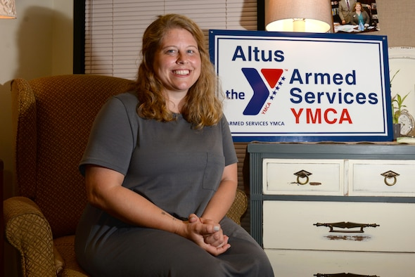 Loran Mayes, Altus AFB Armed Services YMCA executive director, poses for a photo, June 12, 2017, at Altus Air Force Base, Oklahoma. The ASYMCA's main focus is to provide programs and services to make life easier for military members E-5 and lower and their families for little to no cost. (U.S. Air Force photo by Airman 1st Class Cody Dowell/released)