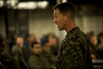 U.S. Marine Capt. Alexander Navia briefs Marines aboard the United States Naval Ship Millinocket May 29, 2017. The Marines are deployed in support of Cooperation Afloat Readiness and Training, which is focused on enhancing the mission readiness of Marines in Thailand and the Philippines. Navia, a native of Parkville, Maryland, is the commanding officer of Kilo Company, 3rd Battalion, 8th Marine Regiment, which is forward deployed to 4th Marine Regiment as part of the Unit Deployment Program. (U.S. Marine Corps photo by Lance Cpl. Joshua Pinkney)