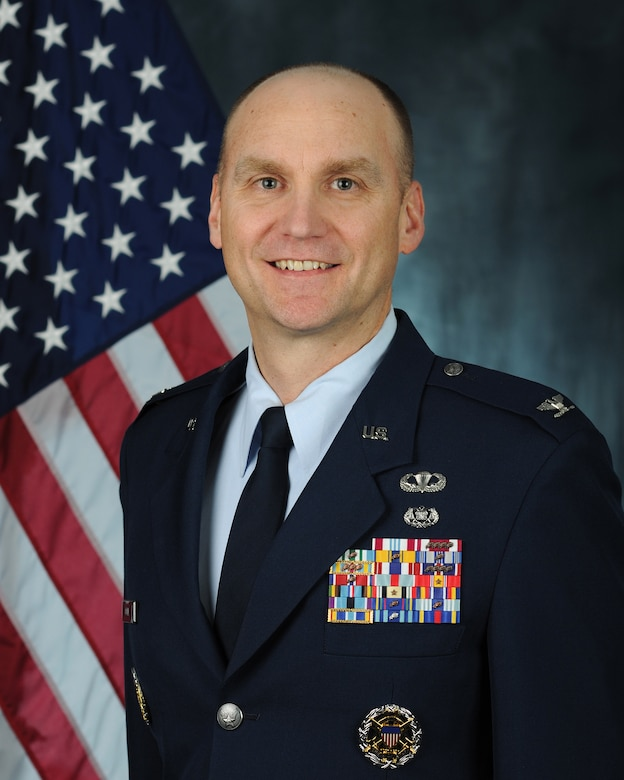 Official photo of Col. Erik C. Coyne (U.S. Air Force photo by 11th Wing Public Affairs)