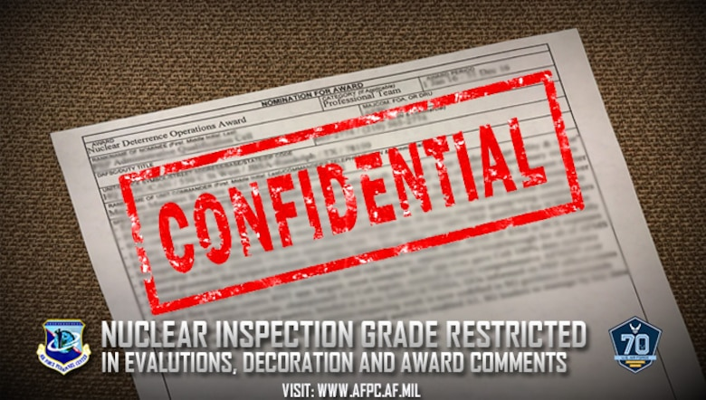 Nuclear Inspection grade restricted in evaluation