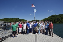 "The Hendricks Creek Marina on Dale Hollow Lake raised the ""Clean  Marina"" flag today during a dedication ceremony recognizing the marina's voluntary efforts to reduce water pollution and erosion in the Cumberland River watershed, and for promoting environmentally responsible marina and boating practices."
