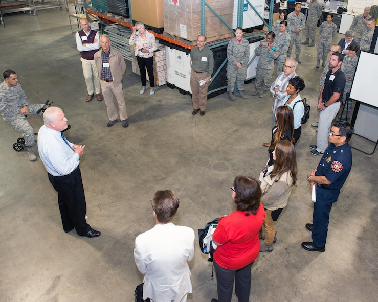 Honorary Commanders from Travis Air Force Base, Calif., tour David Grant USAF Medical Center, June 9, 2017. The purpose of the Travis Air Force Base Honorary Commander Program is to promote relationships between base senior leadership and civilian partners, foster civic appreciation of the Air Force mission and its Airmen, maximize opportunities to share the Air Force story with new stewards, and to communicate the mutual interests, challenges, and concerns that senior leaders and civilian stakeholders have in common. (U.S. Air Force photo by Louis Briscese)