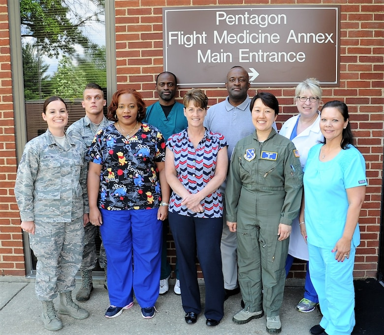 Pentagon Flight Medicine Clinic Annex staff photo, 2017