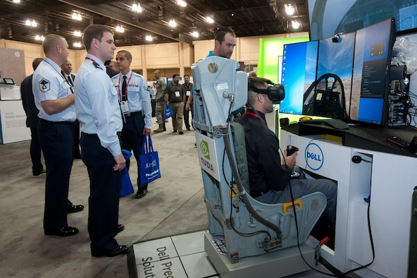 The 2016 Air Force Information Technology and Cyberpower Conference drew more than 100 cyber and IT vendors and more than 3,200 attendees. Conference organizers expect more vendors and guests to attend this year's conference. (U.S. Air Force photo/Melanie Cox)