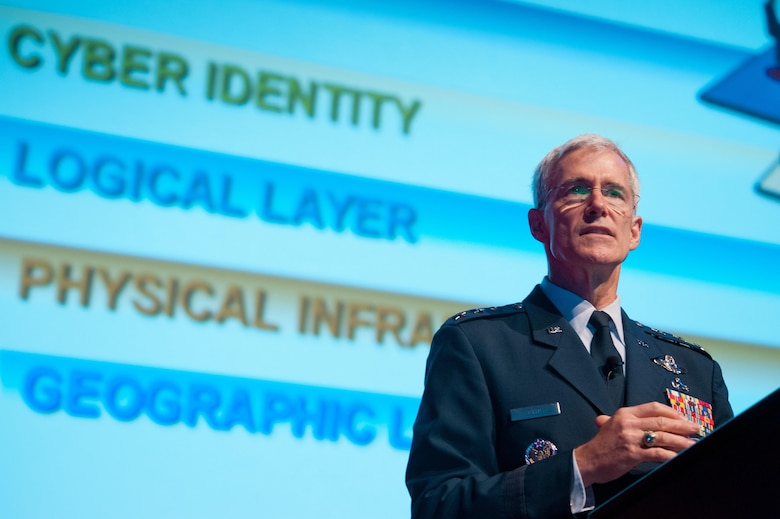 Lt. Gen. Robert Otto, then the deputy chief of staff for Intelligence, Surveillance and Reconnaissance, Headquarters U.S. Air Force, was one on many military and industry keynote speakers at the 2016 Air Force Information Technology and Cyberpower Conference, Aug. 28-30, 2017, in Montgomery, Alabama.  His successor in the position, Lt. Gen. VeraLinn Jamieson, is scheduled to speak at this year's conference. (U.S. Air Force photo/Melanie Cox)