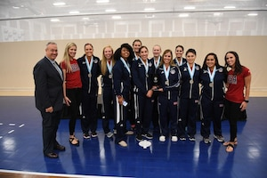 USA wins the silver medal of the 18th Conseil International du Sport Militaire (CISM) World Women's Volleyball Military Championship on 9 June 2017 at Naval Station Mayport, Florida.