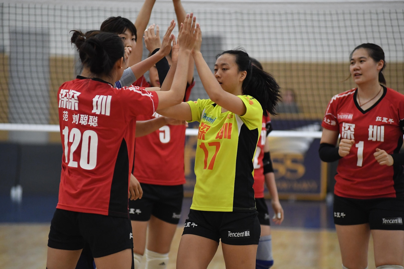 China wins the 18th Conseil International du Sport Militaire (CISM) World Women's Volleyball Military Championship on 9 June 2017 at Naval Station Mayport, Florida.