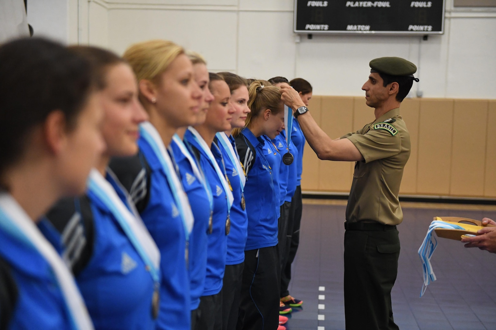 Germany wins bronze of the 18th Conseil International du Sport Militaire (CISM) World Women's Volleyball Military Championship on 9 June 2017 at Naval Station Mayport, Florida.