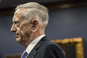 Defense Secretary Jim Mattis testifies during a House budget hearing.