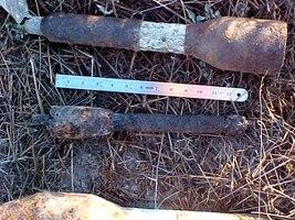 Inert rockets at former Camp Matthews.