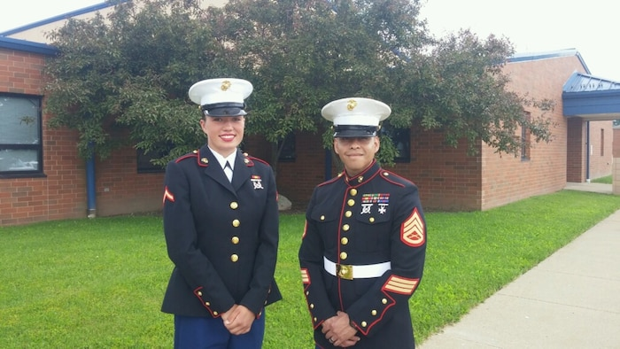 """Pfc. Gabbrielle Cecil, a native of Spencer, Ohio, enlisted as a United States Marine after turning down her acceptance to Harvard University. Cecil says that she is proud of her decision and is ready to start the next chapter in her career as a United States Marine.""""I have no regrets for joining the Marines at all,"""" said Cecil. """"I think it was the best decision I made for my life at this point in time."""" (Courtesy Photo)"""