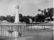 "Biloxi Light Station, Mississippi; Original caption: ""Camera Station No. 1.""; photo dated 26 October 1892; Photo No. 66; photographer unknown."