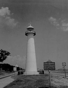 Biloxi Light, Mississippi; no caption/date/photo number; photographer unknown.  Photo circa 1965.