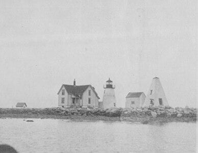 Bird Island Lighthouse, Massachusetts BIRD ISLAND LIGHT TOWER WITH THE CURRENT LANTERN ROOM