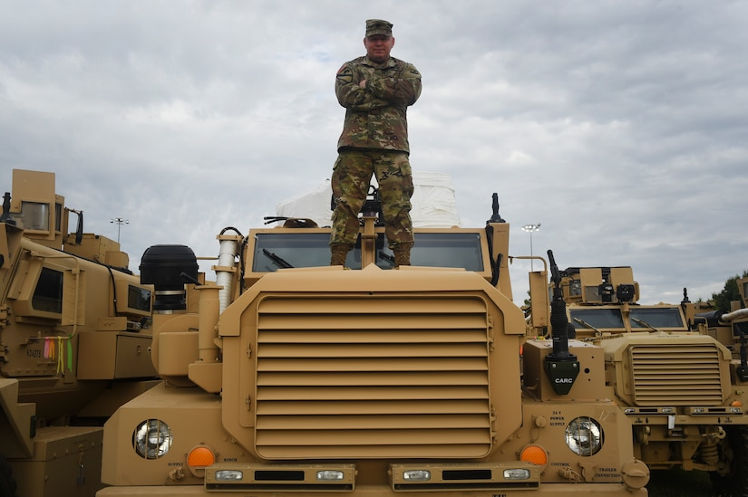 """Celebrating the Army's birthday and being in the service for over 20 years, I have been blessed to work with the most dedicated and hardworking men and women. The camaraderie and hard work we put into the mission makes me continue to serve."""" – U.S. Army Lt. Col. Chad Blacketer, 841st Transportation Battalion commander."""