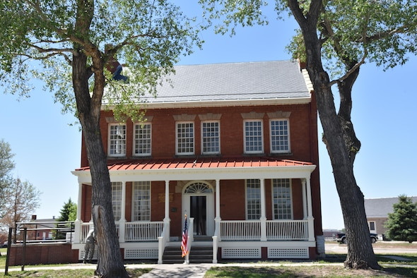 The renovations of the historic Fort D. A. Russell Army post headquarters started in November 2016 and officially completed at F.E. Warren Air Force Base, Wyo., June 8, 2017. The building flaunts 2,600 square feet of refinished and installed hardwood flooring, and a repair of 6,000 square feet of 100 year old lath and plaster. The renovation project served a dual purpose by providing a rare training opportunity to prepare civil engineer Airmen for their responsibilities when deployed to foreign countries. Building 210 will act as the MSG headquarters and a receptions hall for Distinguished Visitors. (U.S. Air Force photo by 2nd Lt. Nikita Thorpe)