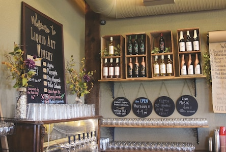 Apart from wine, Liquid Art Winery and Estate in Manhattan also makes their own cider. Most of the ciders are available year long, but some of the flavors are seasonal.