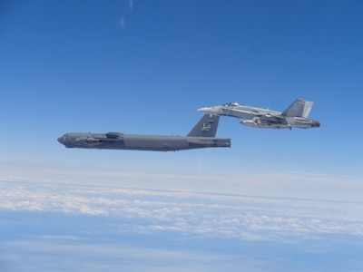 170619 F ZZ999 012 - Canadian NORAD Region aircraft practice intercept and escort procedures with United States Air Force bombers