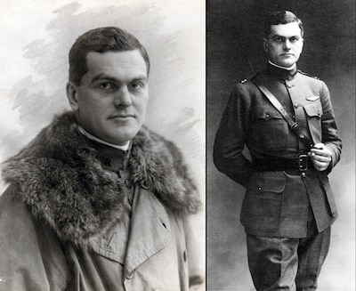 Army Capt. James E. Miller served as a pilot during World War I, and was the first U.S.-trained pilot to be a combat aviation casualty of the war. The Army awarded him the Distinguished Flying Cross, and presented the posthumous award to his great-grandson during a twilight tattoo event, June 14, 2017, at Joint Base Myer-Henderson Hall, Va. Courtesy photo