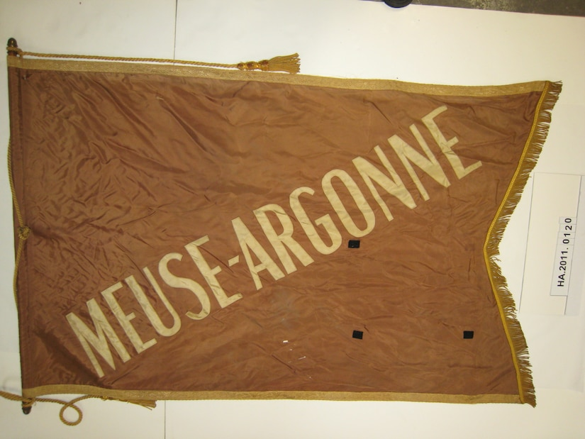 World War I displaying the name Meuse-Argonne, the site of one of the Hellfighters most intense battles of the war. (Courtesy photo by the NY State Military History Museum, Saratoga Springs, N.Y.)