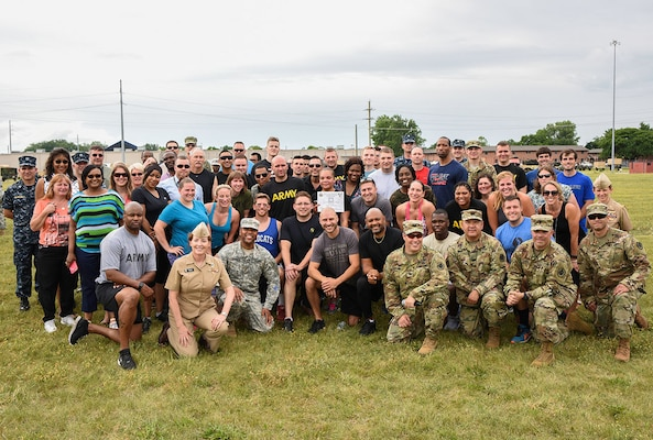 Defense Supply Center Columbus associates and military members celebrate the Army's 242nd birthday on June 14.