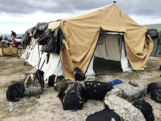 Camp setup during Turbo Distribution Exercise 16-2.