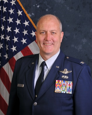 Pennsylvania Air National Guardsman, Col. Ray Hyland, Maintenance Group Commander at the 171st Air Refueling Wing located near Pittsburgh Pennsylvania sits for an official photo 16 June, 2017. (U.S. Air National Guard Photo by Senior Master Sgt. Shawn Monk)