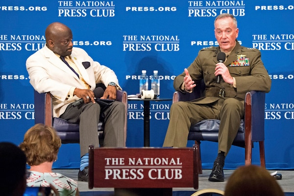 Marine Corps Gen. Joe Dunford, chairman of the Joint Chiefs of Staff, speaks at the National Press Club in Washington, D.C., June 19, 2017. DoD photo by Navy Petty Officer 2nd Class Dominique A. Pineiro