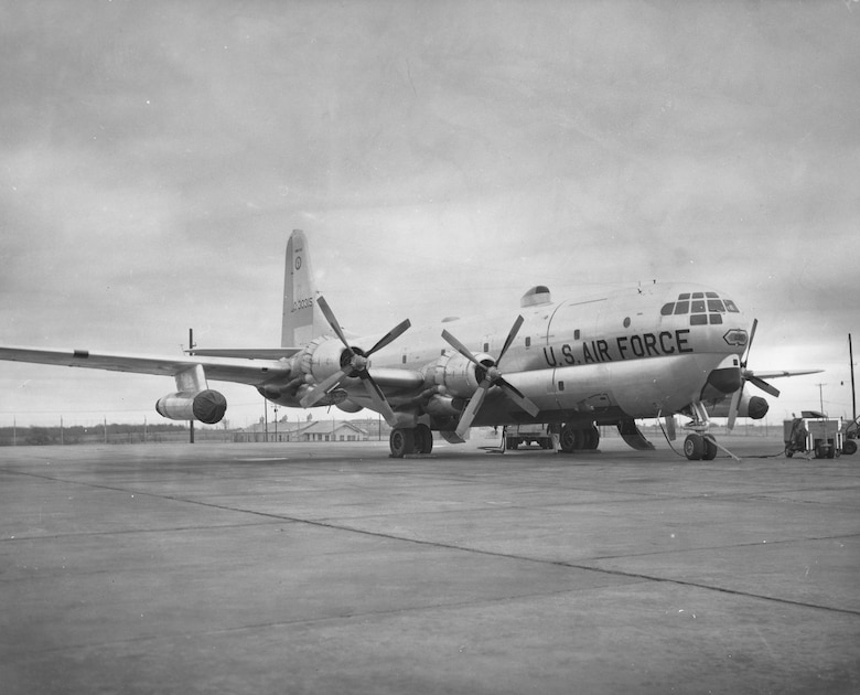 C-97 at Tinker Air Force Base in the 1950s. (Courtesy photo)